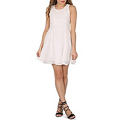 Izabel London - White floral lace skater dress