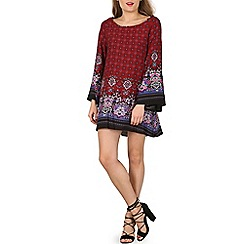 Izabel London - Dark red print shift dress