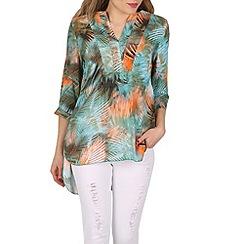 Izabel London - Green printed tunic top