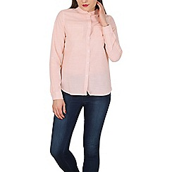Apricot - Light peach vertical stripe shirt