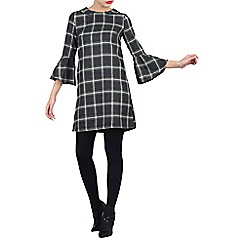Jolie Moi - Green checked flare sleeve tunic