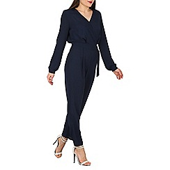 Mela - Navy buckle jumpsuit