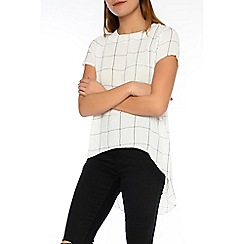 Alice & You - White split back dip hem blouse