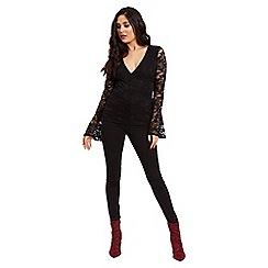 Jane Norman - Black lace wrap top