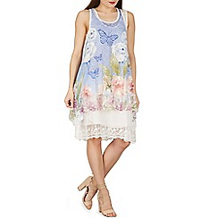 Izabel London - Multicoloured oversized tiered lace tunic top