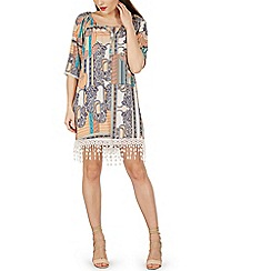 Izabel London - Multicoloured paisley print peasant dress