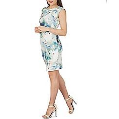 Izabel London - Green floral print bodycon dress