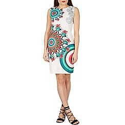 Izabel London - White printed bodycon dress