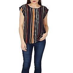 Izabel London - Navy stripe boxy top