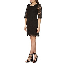 Izabel London - Black scallop trim lace dress
