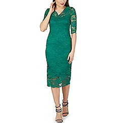 Izabel London - Green v neck lace dress