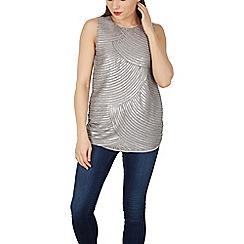Solo - Grey sequin sleeveless top