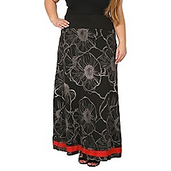Samya - Black demi-flare maxi skirt