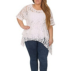 Samya - White batwing crochet top