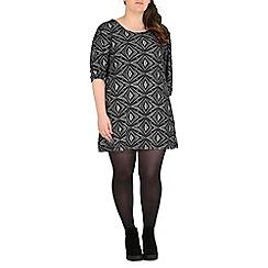 Samya - Black paisley print dress