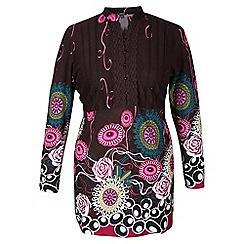 Samya - Purple printed tunic dress