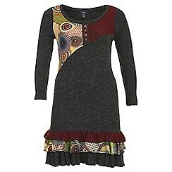 Samya - Red ruffle hem dress