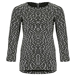 Samya - Black monochromatic pattern top