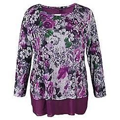 Samya - Purple floral print top