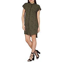 Apricot - Multicoloured leopard print shirt dress