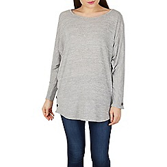Apricot - Grey buttoned marl top