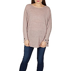 Apricot - Pink buttoned marl top