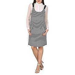 Mela - Black striped scuba dress