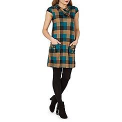 Izabel London - Beige checked tunic dress