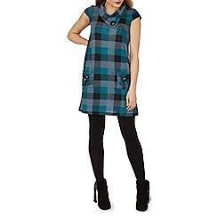 Izabel London - Blue checked tunic dress