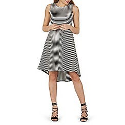 Izabel London - Black strip midi dress
