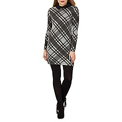 Izabel London - Grey check shift dress
