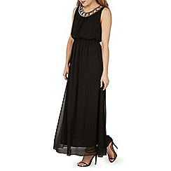 Izabel London - Black embellished neckline maxi dress