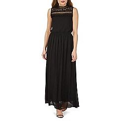 Izabel London - Black lace high neck detail maxi dress