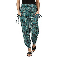 Izabel London - Green tile print joggers pants