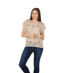 Izabel London - Beige swallow print top