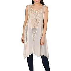 Stella Morgan - Beige sleeveless contrast knit top