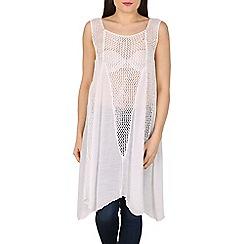 Stella Morgan - Cream sleeveless contrast knit top