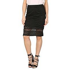 Stella Morgan - Black lace insert textured skirt