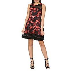 Stella Morgan - Red fit 'n' flare floral vintage dress