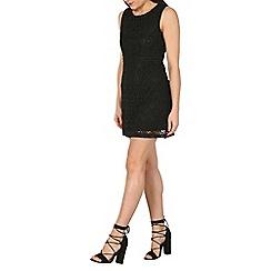 Stella Morgan - Black floral lace shift dress