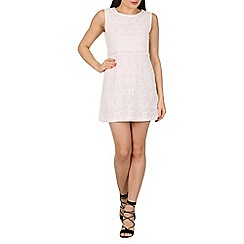 Stella Morgan - White floral lace shift dress