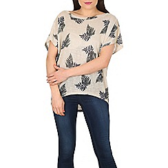 Apricot - Cream fern print top
