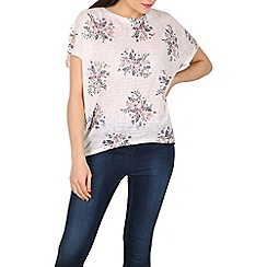 Apricot - Cream floral bouquets oversized t-shirt