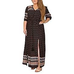 Samya - Black boho style maxi dress