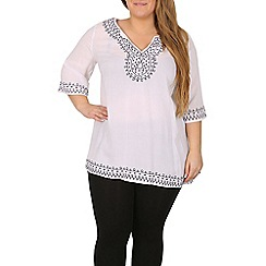 Samya - White embroidered tunic top