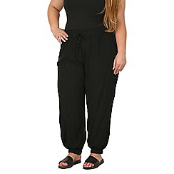 Samya - Black wide cuffed waist pants