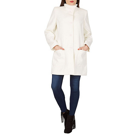 David Barry - White button up coat