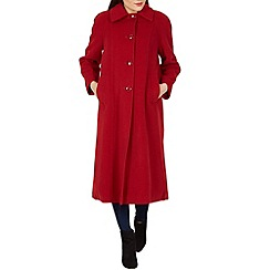 David Barry - Red large collar coat
