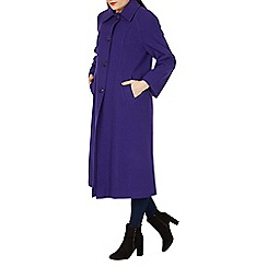 David Barry - Purple large collar coat