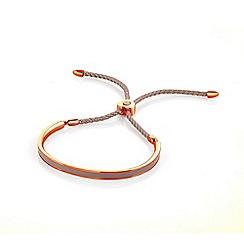 Fervor Montreal - Beige enamelled bracelet with swarovski crystals